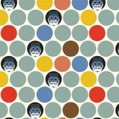 Birch Fabrics Charlie Harper Nurture 14 Family Owlbum