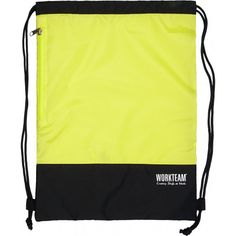 Mochila con cierre de cordón. Referencia  WFA404 Marca:  WorkTeam  Mochila con cierre de cordón. Un bolsillo lateral con cierre de cremallera. Combinada con alta visibilidad.