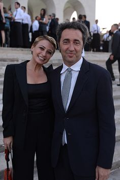 Daniela e Paolo Sorrentino #Armani   http://howcool.it/ospiti-a-one-night-only-roma/
