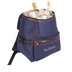 Personalized On-The-Go Insulated Backpack Cooler - great for hiking or tailgating