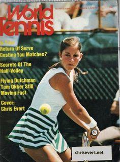 Chris Evert World Tennis Tennis Dress, Tennis Clothes, Tennis Outfits, Tennis Photos, Tennis Legends, Tennis Tournaments, Tennis Players Female, Vintage Tennis, Prep Style