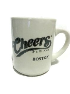 Vintage Cheers Boston TV Show Coffee Mug Officially Licensed Hampshire House