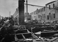 Interior of Eddy's Mill after the Hull-Ottawa Fire of 1900. (item 1), LAC MIKAN no. 3193231