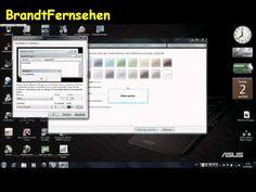 Schriftfarbe und Schriftart in Windows 7 ändern - YouTube