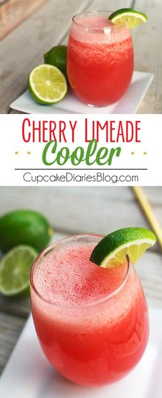 Cherry Limeade Cooler - A refreshing summer beverage with the perfect…
