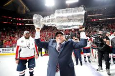 Barry Trotz lifts the Stanley Cup. (Bruce Bennett/Getty Pictures) DALLAS — Barry Trotz resigned from the Washington Capitals on Monday, simply 11 days after he Hockey News, Nhl News, Stanley Cup Playoffs, Stanley Cup Champions, Washington Capitals, Washington Dc, Caps Hockey, Hockey Puck, Bruce Bennett