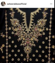 Working on a very exciting project ! Zardosi Embroidery, Embroidery Suits Punjabi, Hand Embroidery Dress, Wedding Embroidery, Bead Embroidery Patterns, Embroidery Suits Design, Embroidery On Clothes, Couture Embroidery, Indian Embroidery