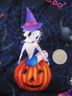 Boop Boop De Doop Betty Boop Halloween Fabric Scraps by tessimal, $5.00