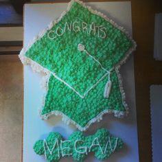Cupcake cake graduation cap