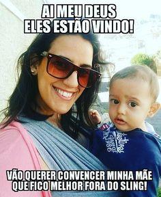 Para começar a semana! Hahaha... A maternidade é uma porta aberta e totalmente escancarada para palpites! Quem usa Sling então escuta cada coisa! Kkkk... A maioria das vezes escuto e explico com maior cuidado. Mas dependendo da abordagem já vou respondendo estilo voadora no peito!  . . .  #maternidadereal #maternidade #palpiteirosdeplantao #sling #wrapsling #maepolvo #slingevida #slingando #maternar