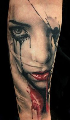 Tattoo Artist - Florian Karg - Face tattoo