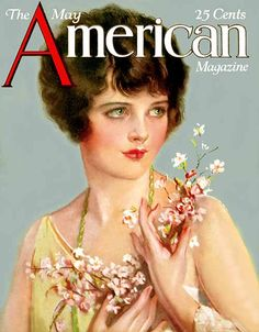 The American Magazine cover from May 1923 by American Illustrator Earl Christy (1883 - 1961)