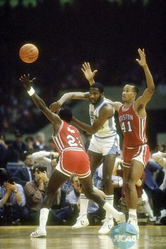 James Worthy (North Carolina) and Robert Williams and Larry Micheaux