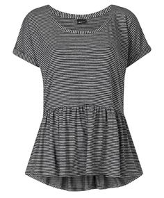 Gina Tricot - Josefin top Black/stripe