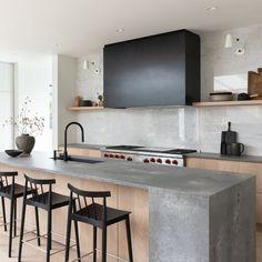 Contemporary Kitchen Design, Interior Design Kitchen, Modern Interior Design, Minimal Kitchen Design, Industrial Kitchen Design, Modern Kitchen Designs, Modern Kitchen Decor, Natural Modern Interior, Modern Contemporary