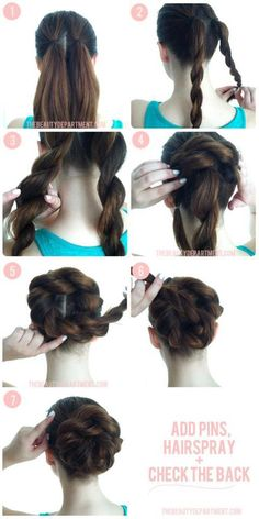 .Very cool updo bun dress up or down