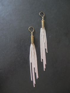 Cosmic  Silver  Recycled Bullet Chain Fringe by savagesalvage, $26.00