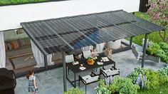 Gardenplaza - Sonnenschutz und Stromversorgung regelt das Terrassen- oder Carportdach - Mit der Sonne um die Wette lachen