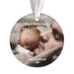 Scripture and Photo, First Father's Day Ornament