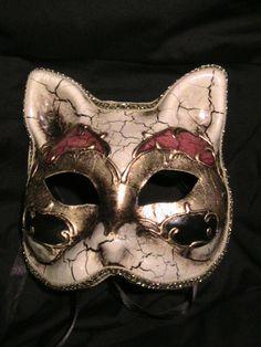 Harlequin Cat Mask