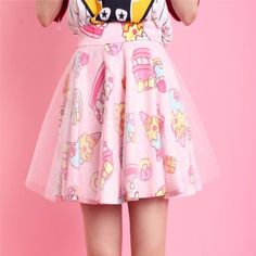 Kawaii desserts Harajuku & fairy kei style skirt at sanrense.com So cute! Get 10% off at checkout with coupon code: krissykitty