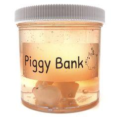Piggy Bank Clear Slime – snoopslimes