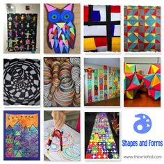 35 Lessons that Explore the Beautiful Pairing of Math and Art - Shapes & Forms