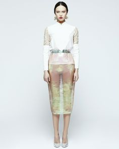 Style - sheer with a touch of metallic - monstylepin #fashion #style #lookbook #outfit #trend #embellished #sheer #metallic