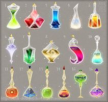 These potion bottles are so cool