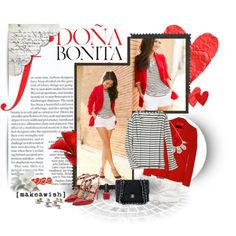 Street Chic: Donna bonita by theroyalcrime on Polyvore featuring moda, Calypso St. Barth, Valentino, Chanel, OPI, Kim Seybert, Dylan's Candy Bar and Abercrombie & Fitch