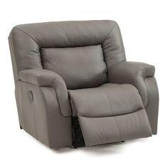 Palliser Furniture Leaside Swivel Rocker Recliner Upholstery: Leather/PVC Match - Tulsa II Jet, Leather Type: All Leather Protected  - Tulsa II Dar...