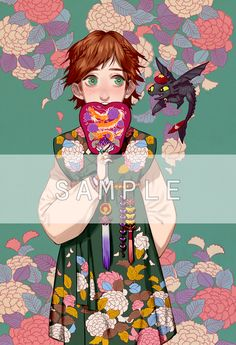 "Disney and Dreamworks Characters in Korean Hanbok - Hiccup from ""How to Train Your Dragon"" - Art by Byajae"