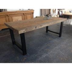 Eettafel oud hout $795.00