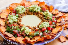 Nachos with Sweet Potato Chips by Eat Drink Paleo. #paleo