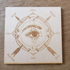 This is a engraved Pendulum Board made out of Birch wood. These are made to order, you can choose between approximately 12 and 14 inches in diameter and thick. This can be used with a pendulum (pendulum not included) for divination purposes. Pendulum Board, Astrology Chart, Altar Decorations, Phantom Quartz, Chakra Stones, Crystal Grid, Book Of Shadows, Magick, Wiccan Witch