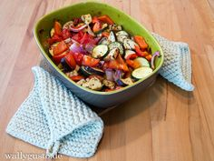 Roast vegetables with herbs