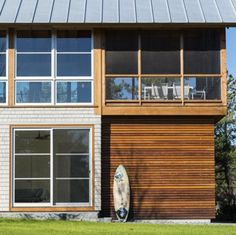 Hammer Architects completes a cabin retreat in the Cape Cod woodland. #outdoorwood