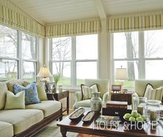 Sunroom Window Treatments On Pinterest Sunroom Curtains