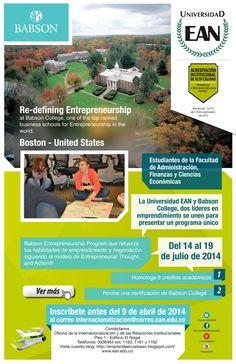 EANista de la Facultad de Administración: inscríbete antes del 9 a  la Misión Académica Babson College. #EANInternacional