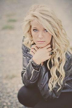 Cool Long Blonde Curly Homecoming Hairstyle