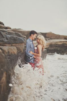 Beach Engagement Session from Teale Photography – Style Me Pretty Beach Engagement, Engagement Couple, Engagement Pictures, Engagement Shoots, Beach Sessions, Photo Sessions, Photography Photos, Couple Photography, Wedding Photography