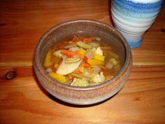 Vegetable soup in viking theme restaurant Harold Jyväskylä Finland  Ravintola Harold Jyväskylä, alkukeitto