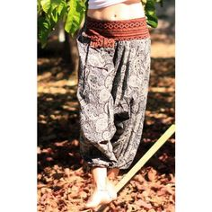 Relaxing yoga pants with elastic waist (600 RUB) ❤ liked on Polyvore featuring activewear and activewear pants