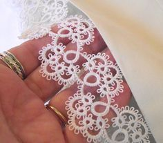 Supplies for Crocheting, Lacemaking, Tatting Filet Crochet, Crochet Lace, Doilies Crochet, Tatting Jewelry, Tatting Lace, Lace Patterns, Crochet Patterns, Needle Tatting Patterns, Tatting Tutorial