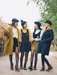 asian fashion Korean Fashion Similar Look - fashion Fashion Mode, Korea Fashion, Japan Fashion, Look Fashion, Winter Fashion, Fashion Design, Preppy Fashion, Fashion Spring, Dress Fashion