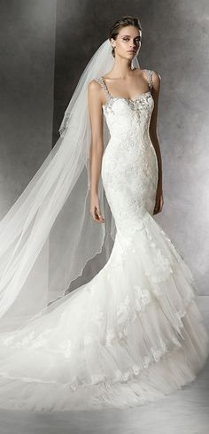 Pronovias 2016 Wedding Dress #coupon code nicesup123 gets 25% off at  Provestra.com Skinception.com