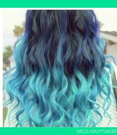 "Teal Ombre Hair | Download ""Teal Blue Ombre Hair"""" in high resolution for free. All ..."