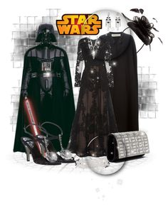 """""""Darth VADAR"""" by leanne-mcclean ❤ liked on Polyvore featuring Yves Saint Laurent, Elie Saab, Chanel and Disney"""