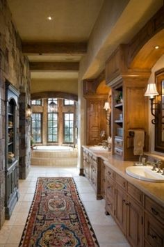 Unique Country House Design With Rustic Atmosphere Traditional Bathroom Beams Ceiling Napa Wine Interior SQUAR ESTATE Architecture Inspi