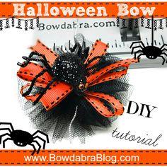 Halloween Bow DIY Tutorial Bowdabra Blog